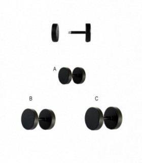 Mat black illusion plug  - IP1519D