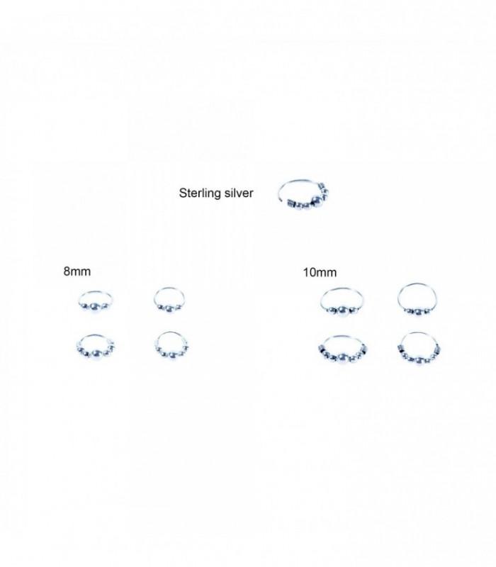 Aro de plata de nariz - ARN119D