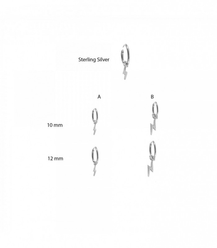 Aro de plata con rayo - HFSILVERD