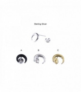 Pendiente de plata luna invertida - PEN450D