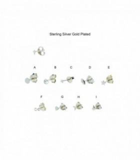Pendiente mini de plata chapado en oro - MSPGD