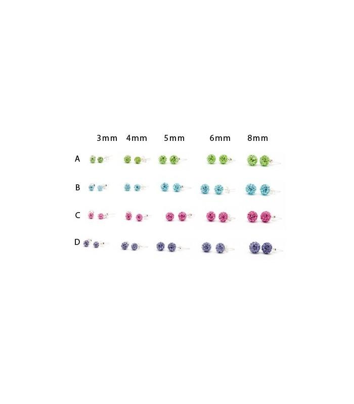d15e187622c6 Pendientes bolas plata colores - PEN182D - Katom Accessories ...
