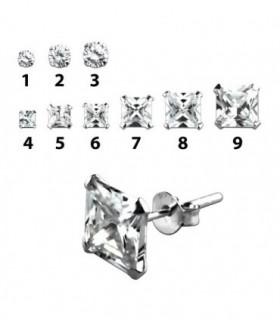 Ball earrings silver colors PEN182D