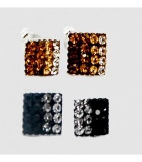 Pendientes bolas plata colores PEN182D