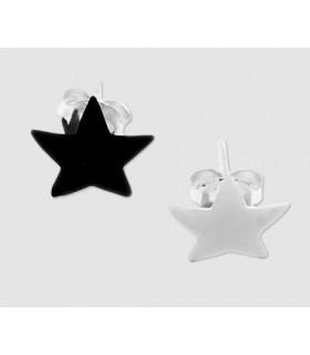 Pendientes de plata forma estrella - pen400D
