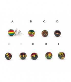 Earrings steel Rasta - PEN1177D
