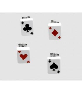 Pendientes poker - PEN1110D