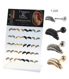 Helix/Tragus piercing display - HEL-CAR16