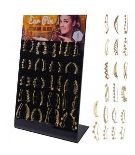 Expositor de pendientes trepadores Ear Pin dorados - EC7GOLD