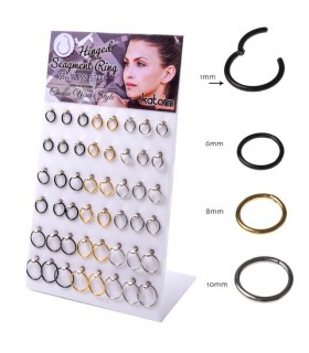 Hinged Segment Clicker Septum Display - SEP205