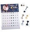 4 color earring/Helix/Tragus - HEL-CAR17
