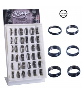 Expositor de anillos de acero chico - ANS3