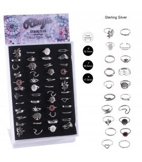Expositor de anillos de plata grandes - AN9