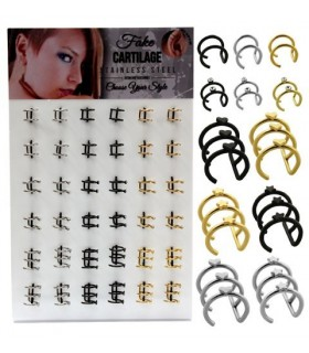 Ear cuff,cartilago,falso aro acero-BEL118CART