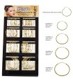 Big Silver Gold Platted Hoops  - ARO1220GOLD
