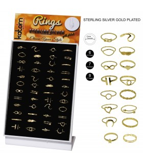 Gold Platted Silver Rings - AN8GOLD