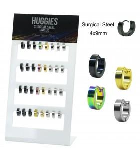 Plain steel hoops color mix - HAGS5011MIX