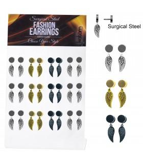Steel Fake Plug with wings pendant - IPWINGS