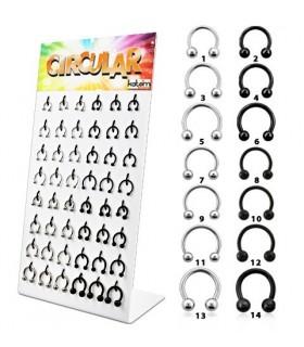 Septum Dilatadores acero oreja y nariz - CIR100