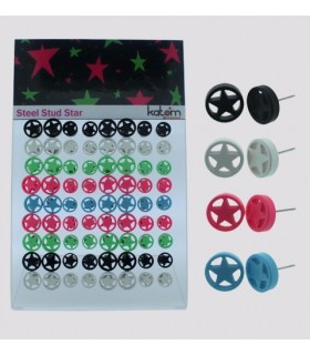 Earrings star colors - STD4514