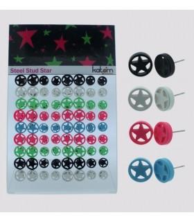 Pendientes estrella colores - STD4514