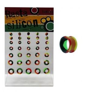 Dilataciones Rasta silicona 3-12mm - SLC3112