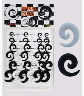 Black white spiral dilators Exhibitor - EXP3023