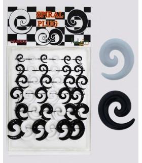 Expositor dilatadores espiral blanco negro - EXP3023