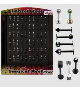 Expositor piercing labio acero - CBB6003
