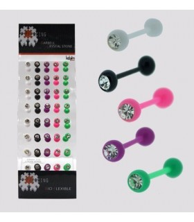 Exhibitor piercing silicone language - BRB6247