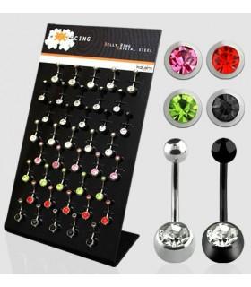 Expositor piercing ombligo - BEL50B