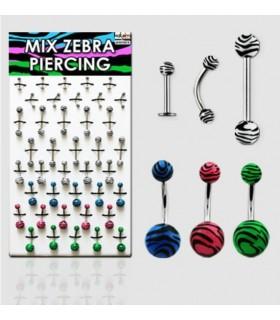 Piercing Zebra mix - MIX40