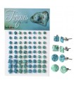 Earrings sterling silver and turquoise - PEN641