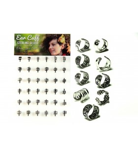 Display silver ear cuff ethnic  - EC1