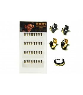 Expositor Aro acero diseño labrado dorado- HAGS5017A