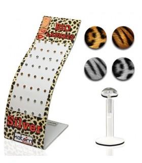 Expositor piercing de labio silicona BIO - MDN7034