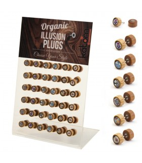 Wooden Illusion Plugs with Motif Display - IP1534