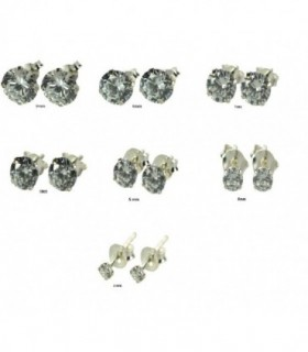 Earrings silver and zirconia - PEN656D