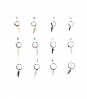 Silver hoops earrings Dreamcatcher - ASP3D