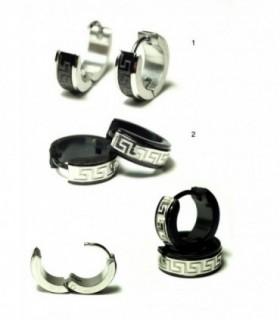 Aro de acero con diseño labrado - HAGS5017D