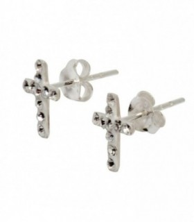 Cross earring with swarovskis - PEN720D