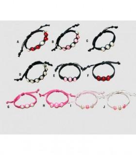 Shamballa bracelets with beads - PUL10D