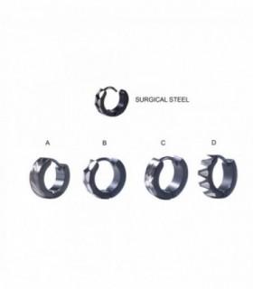 Aro de acero negro grabado al láser - HAGSLASERD