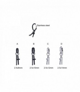 Aro de acero con cruz y cadena - HAGSCHAIND