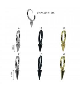 Aro de acero con colgante cono - HAGS5094D